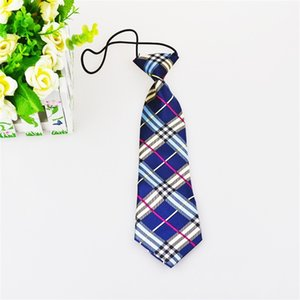 Cute Boys Girls Color Elastic Adjustable Necktie Children Tie Patterned Kids Tie Casual Neck Ties Cravat School Uniforms Set 761 S2
