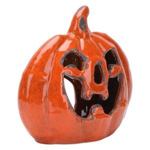 Candle Holders 1pc Ceramic Pumpkin Candlestick Decorative Holder Adornment