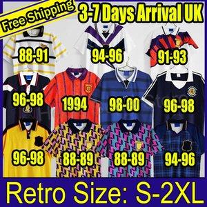 Шотландия 1998 Чемпионат мира Окончательные ретро футбольные трикотажные изделия 78 89 90 93 94 95 96 98 00 г. Винтажная классическая футболка для футбола