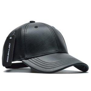2020 [NORTHWOOD] Solid Winter Leather Baseball Cap Men Branded Snapback Autumn Warm Black Cap Women Bone Masculino Mens Caps and Hats