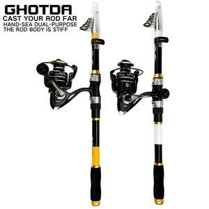 Rod Reel Combo Fishing And 2.1 2.4 2.7 3.0 3.6M Spinning BK NX Metal Spool
