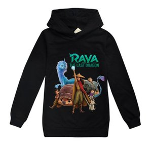 Hoodies & Sweatshirts Cute Raya And The Last Dragon Girls Sweatshirt T Shirt Children Clothes Game Hoodie For Boys Tops Long Sleeve Sportswe