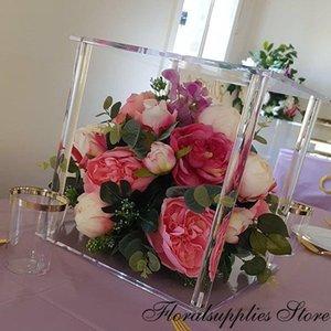 Party Decoration 10PCS Clear Flower Stand Wedding Decorative Columns Acrylic Vase Marriage Table Centerpiece Home Decor