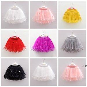 Bambini vestiti tutu unghie perline gonne gonne tessile neonate da ballo danza abiti da ballo tulle pettiskirt lanuginoso gonna festa ewe5550