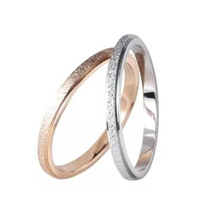 Korean version of the fashion female personality INS tidal titanium steel ring net red stainless steel pearl sand index ring
