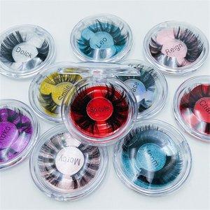 5D mink cils 25mm 27mm 3D mink lash 100% à la main fausses cils gros longs longs dramatiques dramatiques fluffy faux cils maquillages cils de maquillages extension avec sac 10 styles
