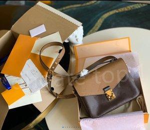 luxury designers handbag messenger bags oxidizing leather POCHETTE metis elegant shoulder crossbody bag shopping purse clutches