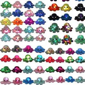 LED leuchtend 20x10 cm beleuchtete reversible flip oct gefüllte puppe weiche plüsch spielzeug farbe kapitel plüsch puppen gefüllt plüsch kind spielzeug geschenk