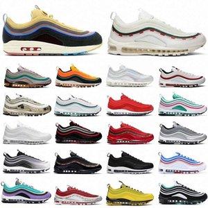 Sean Wotherspoon 97 Erkek Kadın Açık Koşu Ayakkabıları Yastık OG Gümüş Altın Spor Atletik Erkek Spor Sneakers 36-45n8tn #