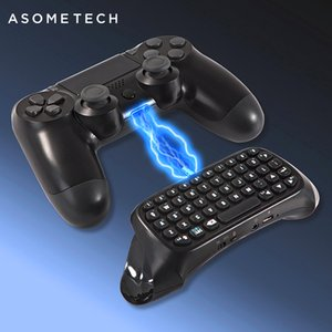 لوحة المفاتيح اللاسلكية بلوتوث البسيطة لسوني PS4 بلاي ستيشن 4 الملحقات Gamepad Keyboard للعب 4 P4 أجزاء تحكم لوحة المفاتيح