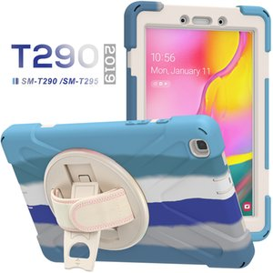 For Tab A 8inch Heavy Duty Hybrid Protective Colorful Silicone Cases with handle kickstand Samsung T290 T295