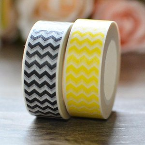 Decorative Paper Washi Tape Chevron Zigzag Papeleria DIY Craft Scrapbooking Tool Cinta Adhesiva Decorativa Masking Gift Wrap