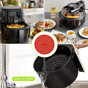 Tools & Accessories 2pc Air Fryer Reusable Liner Stick Silicone Basket Mat Kitchen And
