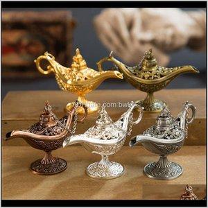 Fragrance Lamps Fragrites Décor Home Sare Drop Доставка 2021 сказка Aladdin Волшебная лампа Урожай Censer Creative Metal Aroma Burry Mu