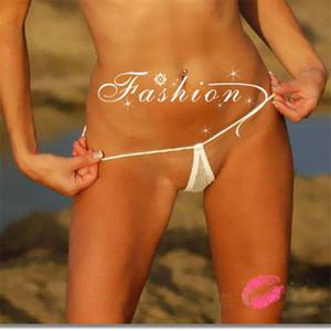 Mujeres atractivas lágropas Tangas G Cuerdas de algodón Malla transparente Mini Micro Micro Bikini inferior Pantías de Tanga Sunbath Baño de lencería