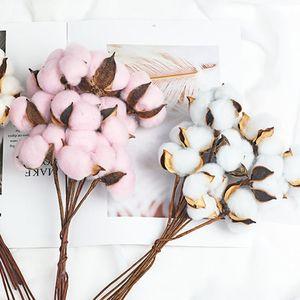 الطبيعية الخالدة القطن المجفف الزهور النباتات الاصطناعية فرع الزهور لحفل زفاف الديكور وهمية ديكور المنزل الزخرفية