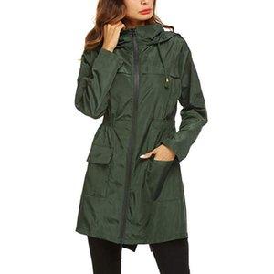 Women's Trench Coats Long Raincoat Waterproof Windproof Hood Ladies Thin Rain Coat Ponchos Jackets Female Chubasqueros Mujer Capa De Chuva