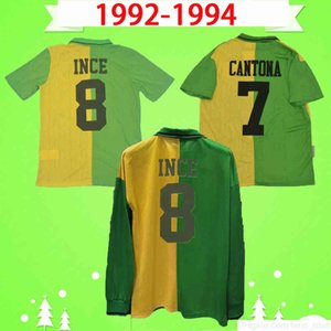 Ретро с длинным рукавом Ретро Манчестер 1992 1994 Футбольная рубашка с полным рукавом Униформа 92 94 Винтажный футбол Джерси Классический мужчина Юнайтед CamiSeta Cantona Hughes Giggs