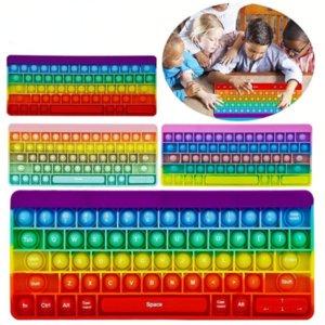 27 * 11cm Toys Fidget Toys Sensory Push Bulle Clavier Anxiété Stress Stress Relever Enfants Adultes Autisme Besoins spéciaux 496