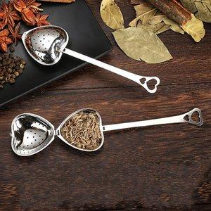 Кухонный инструмент любовь в любви в форме сердца стиль из нержавеющей стали чай инфузер чайной ложки чайной ложки ложкой фильтр высокое качество 294 S2