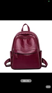 Women Backpack Faux Leather Shoulder Bag Black Wine Red Yellow Rucksack Travel School Satchel