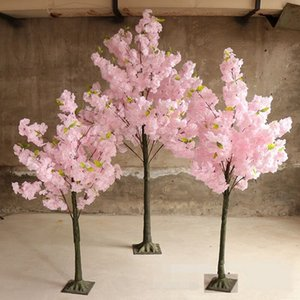 Artificial Flower Wishing Trees Simulation Cherry Blossom Tree Roman Column Road Leads Sakura For Wedding Mall Opened Props