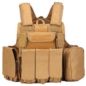 Защитное оборудование CS восемь кусок жилья на открытом воздухе охотничьи боевые стрельбы боевые взмахивания обучения камуфляж тактический жилет куртки