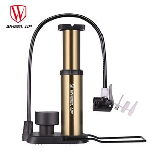 Bike Pumps WHeeL UP Portable High Voltage Bicycle Pump Aluminum Alloy Foot MTB Cycling Air Pressure Gauge Inflator Pedal