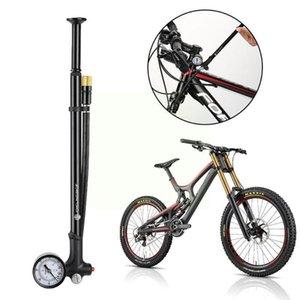 Bike Pumps 1 Pcs Fahrrad Pumpe Mtb Rennrad Stoßdämpfer Gabel Luftpumpe Inflator Mit Schlauch Reifen Radfahren Manometer N1s6