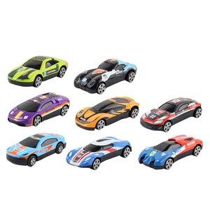 8pcs Classic Alloy Racing 4wd Graffiti Diecasting Car 164 Simulation Mini Pocket Pull Back Inertia Car For Children Toy Gift