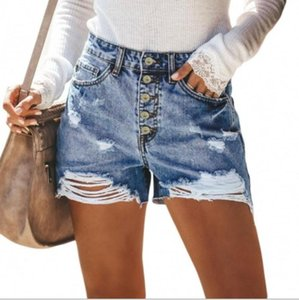 Summer Hole Denim Shorts Jeans Fashion Femmes High Taille Casual Dimensionnés Sexy Push Up Skinny Femmes