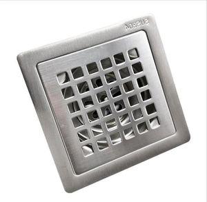 10*10cm 304 Stainless Steel Bathroom Deodorant Thick Floor Drain Kitchen Balcony Grid Anti-clogging Fast Drainage Floor Drain