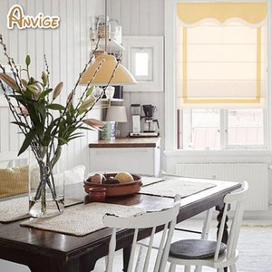 Blinds Anvige Modern 60 Colors Custom Roman Shade,washable Blinds,flat And Fold With Cords