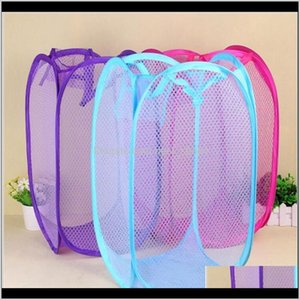 Creative Folding Laundry Foldable Mesh Washing Baskets Toy Dirty Clothes Breathable Yl451 K401 Boxes Storage Rzf7R