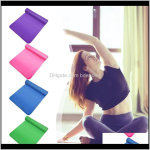 Mats Supplies & Outdoors Drop Delivery 2021 Nbr Yoga Mat Thickened Anti-Slip Fitness Gymnastics Carpet Pilates Gym Sports Exercise Workout Fl