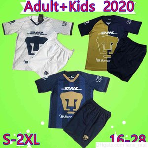 Adulto Set Kids Kit México National University University Cougar Clube de futebol Jerseys 2020 2021 Guarnos Calderon Boys Terno de Futebol Camisa Uniforme Uniforme