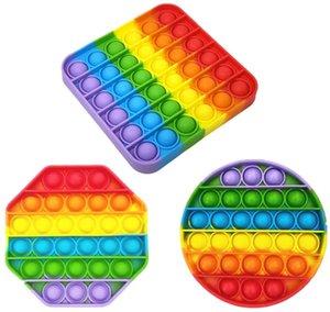 AUSHANG 3 Paketi Pinch Duyusal Oyuncak, Pop Bubble Duyusal Fidget Oyuncak, Gökkuşağı Pop BT Figür Oyuncak Otizm Özel İhtiyaçlar Anti-stres, Eğlenceli ve Eğitici Oyuncaklar