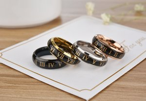 Couples mood ring roman numerals change color ring size 6-10#