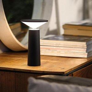 Table Lamps LED Light USB Rechargeble Touch Dimming Coffee Restaurant Bar Desk Lamp Bedside Night Lights Loft Decor Interior Lighting