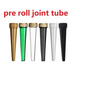 PreRoll Packaging plastic Pre roll joint tubes container with CR caps 120mm 98mm conical tube Free DHL