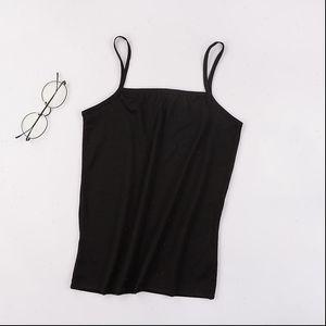 Femmes Camis Llyge Sexy Ultra Thin Femmes Spaghetti Stap Solide Mini Vest Mini Vest Femme Summer Été Casual Respirant Dame Tanks