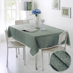 Table Cloth 44 Tablecloth Imitation Linen Lace Dining Cover Home Decoration