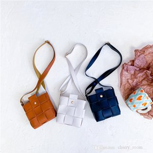 Children mini change purse 2021 autumn winter braided girlss crossbody bag Kids accessories zero wallet casual one shoulder bags F727