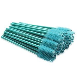 1000pcs Nylon Plastic Disposable Eyelash Brush Spoolie Blue Mascara Lash Wands Cosmetic Eye Makeup Brushes