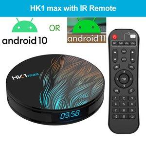 HK1 Max Android 10 ou 11 TV inteligente Caixa de TV RK3318 BT4.0 Quad Núcleo 2.4G5G WIFI WIFI 4K Media Player