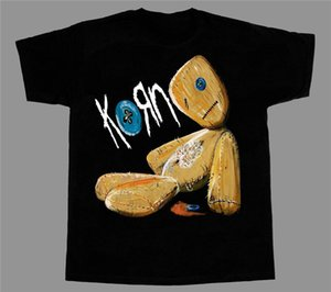 "Homens camiseta Korn edições Band Rock New Black Short / Manga Longa Camiseta Grande T ""Tshirt"