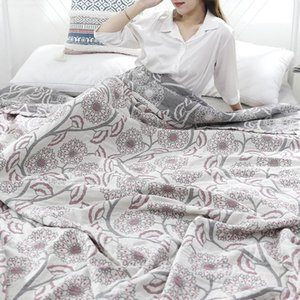Sheets & Sets Blanket Summer Pure Cotton Air Condition Room Quilt Super Soft Breathable Thin Throw Sofa Quilts Coverlet Cozy Sheet