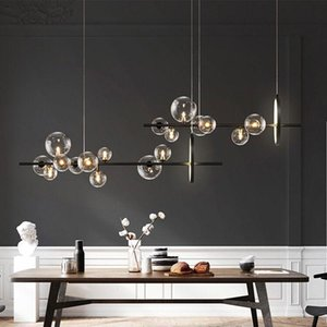 Pendant Lamps Modern Novelty Glass Bubble Restaurant LED Chandelier Nordic Office Kitchen Island Home Decoration Hanging Lamp