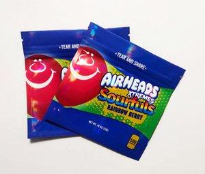2021P Pronto para enviar Airheads Xtremes Bags Cereja Laranja Bits Gummies Zipper Resealable Mylar Embalagem