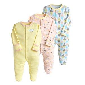 Foties 3pcs / Ensembles Baby Rompes Boys Combinaisons Vêtements Nouveau-né Enfant Toddler Born Girl Manches Longues Vêtements B4494